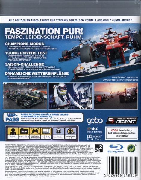 f1 2012 formula 1 spiel f r playstation 3 ausleihen bei. Black Bedroom Furniture Sets. Home Design Ideas