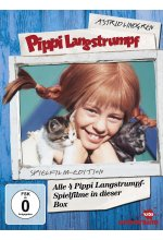 Pippi Langstrumpf - Spielfilm-Box  [4 DVDs] DVD-Cover