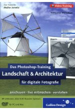Photoshop-Training für digitale Fotografie - Landschaft & Architektur (DVD-ROM) Cover