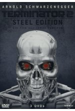 Terminator 2 - Steel Edition/Metal-Pack  [3 DVDs] DVD-Cover