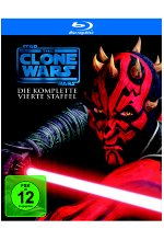 Star Wars - The Clone Wars - Staffel 4  [3 BRs] Blu-ray-Cover