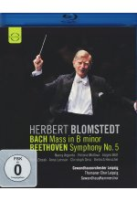 Herbert Blomstedt - Bach Mass in B minor Beethoven Symphony No. 5 Blu-ray-Cover