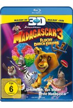 Madagascar 3 - Flucht durch Europa  (+ BR) (+ DVD) Blu-ray 3D-Cover