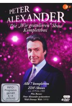 Die Peter Alexander 'Wir gratulieren' Show - Komplettbox (Alle 7 ZDF-Shows plus Disneys Welt) - Fernsehjuwelen  [4 DVDs] DVD-Cover