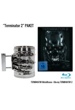 Terminator 2 - Limited Steel Edition Blu-ray + Metalltasse T-800 Hand Geschenkset Blu-ray-Cover