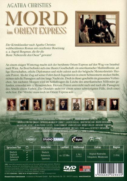 mord im orient express agatha christie film auf dvd ausleihen bei. Black Bedroom Furniture Sets. Home Design Ideas