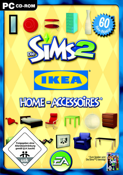 die sims 2 ikea home accessoires add on spiel f r pc ausleihen bei. Black Bedroom Furniture Sets. Home Design Ideas