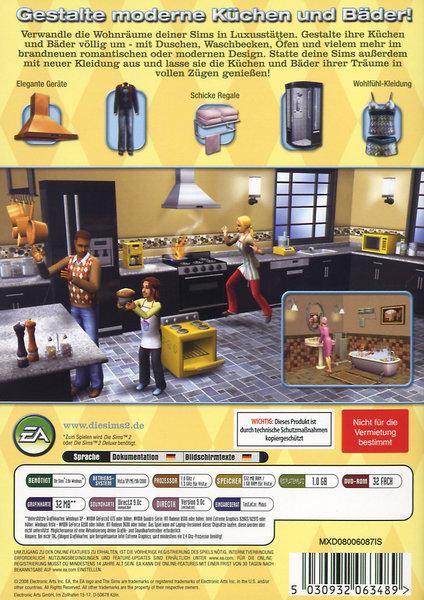 die sims 2 k chen und bad einrichtungs accessoires add. Black Bedroom Furniture Sets. Home Design Ideas