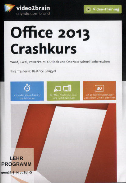 office 2013 crashkurs word excel powerpoint outlook. Black Bedroom Furniture Sets. Home Design Ideas