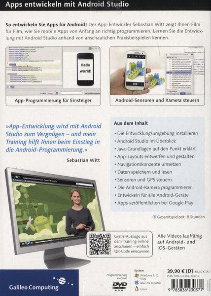 apps entwickeln mit android studio schritt f r schritt zur eigenen android app pc mac linux. Black Bedroom Furniture Sets. Home Design Ideas