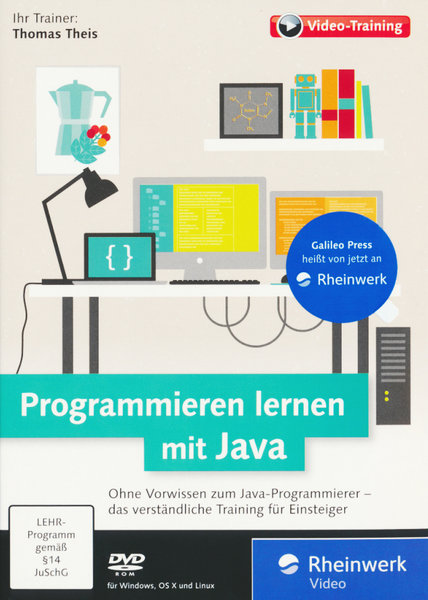 programmieren lernen mit java das verst ndliche video training f r einsteiger pc mac linux. Black Bedroom Furniture Sets. Home Design Ideas