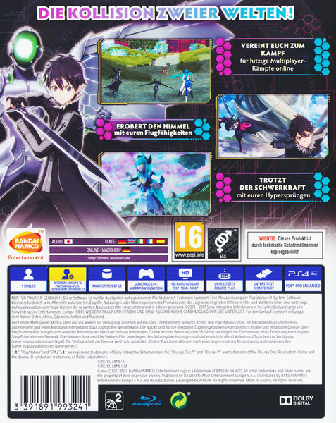 accel world vs sword art online spiel f r playstation 4 ausleihen bei. Black Bedroom Furniture Sets. Home Design Ideas