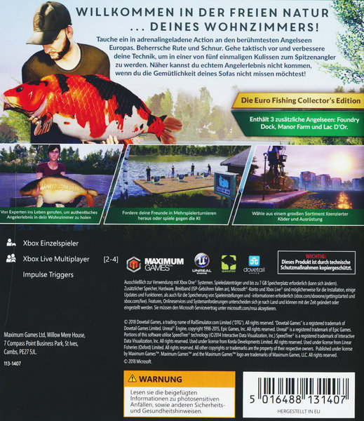 Euro fishing collector 39 s edition spiel f r xbox one for Euro fishing xbox one
